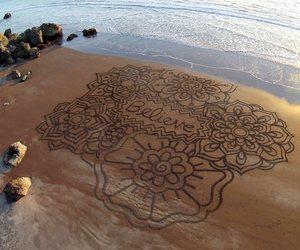 beach, believe, and art image