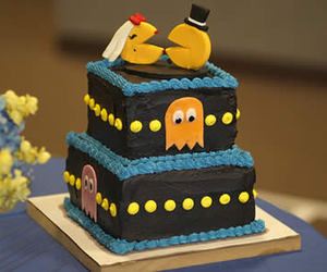 cake, pacman, and Pac Man image