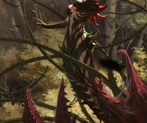 art, league of legends, and zyra image