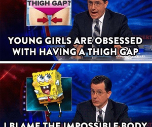 funny, spongebob, and thigh gap image