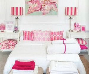pink, bedroom, and white image