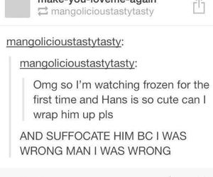 frozen, funny, and tumblr image