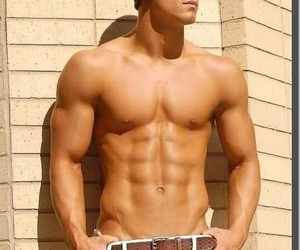 body, sixpack, and boy image