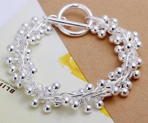bead, trendy, and chain bracelet image