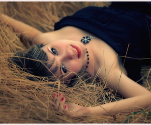 girl and hay image