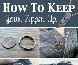 diy, zipper, and jeans image