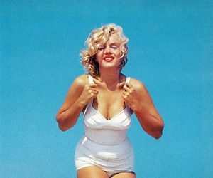Marilyn Monroe, beautiful, and beach image
