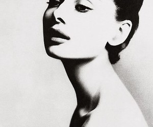 audrey, beauty, and b&w image