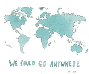 world, travel, and anywhere image
