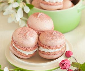 food, macarons, and desserts image