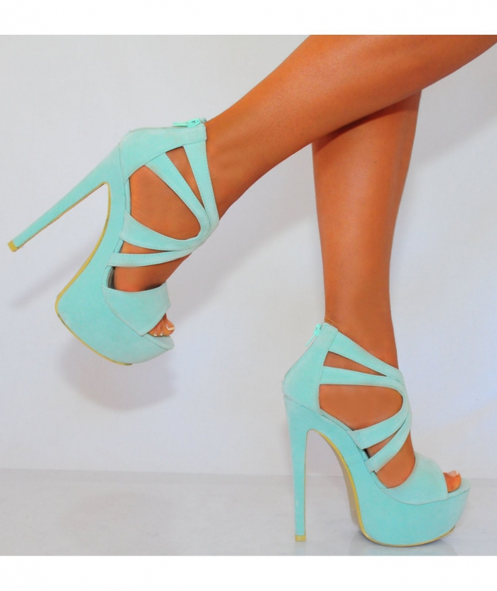 Koi couture ladies mint green high heels on we heart it junglespirit Images