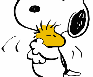 snoopy, hug, and dog image