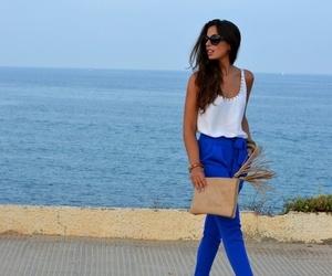 blue, fashion, and pants image