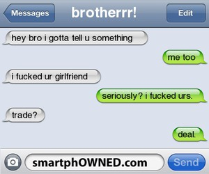 brother, gf, and smartphowned image