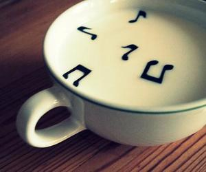music, cup, and milk image