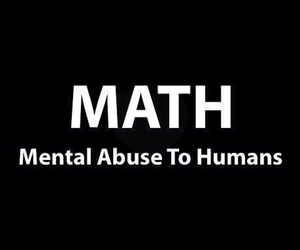 math, funny, and abuse image