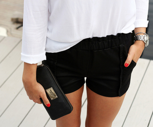 blouse, watch, and clutch image