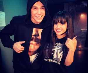 austin mahone and becky g image