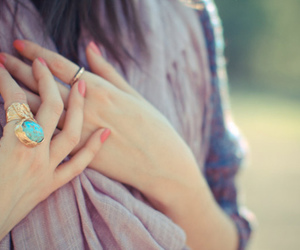 girl, ring, and nails image