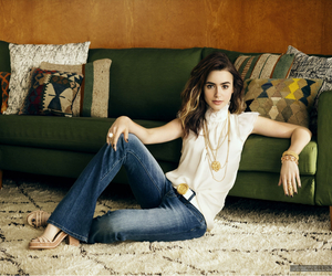 lily collins, girl, and lily image
