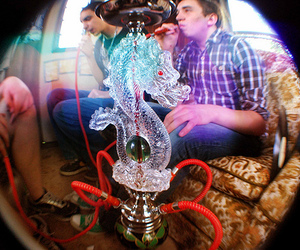 bong, dragon, and hookah image