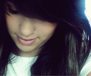 girl, nose, and piercing image