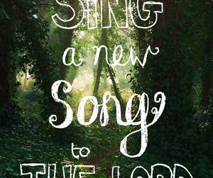 god, bible verses, and sing image
