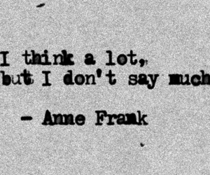anne frank, black and white, and quotes image