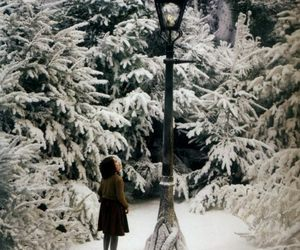 narnia, winter, and Lucy image