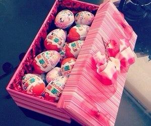 chocolate, kinder, and pink image