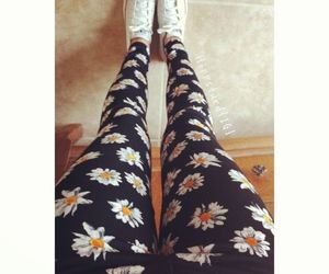 flowers, hipster, and converse image