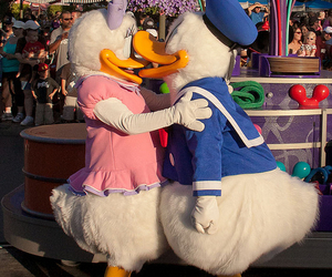 disney, donald duck, and kiss image