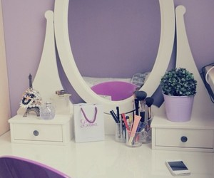 bedroom, dressing table, and girly image