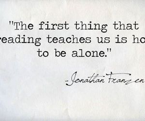 quotes, alone, and book image