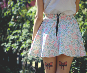 bow, girl, and legs image