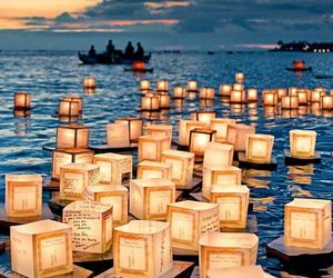 light, sea, and hawaii image