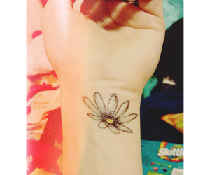 art, ink, and daisy image