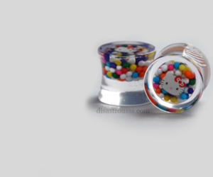 cupcake, hello kitty, and Plugs image