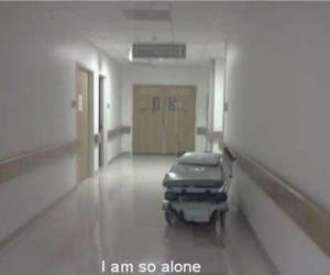 alone, grunge, and hospital image