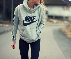 beauty, hoodie, and jogging image