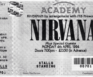 black and white, grunge, and kurt cobain image