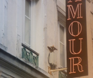 amour, paris, and text image
