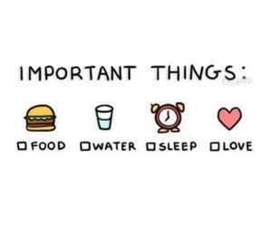 food, sleep, and quotes image