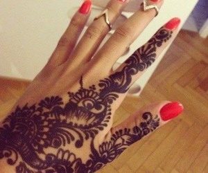 henna, nails, and henne image