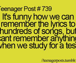 funny, test, and Lyrics image