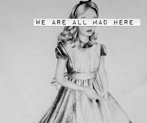 alice, mad, and alice in wonderland image