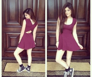 dress, kylie jenner, and converse image