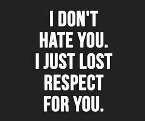 respect, quotes, and hate image