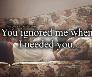 ignored, quote, and hurt image