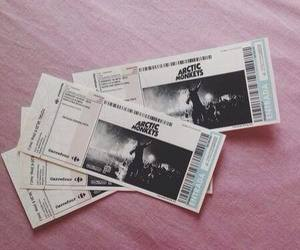 arctic monkeys, ticket, and concert image